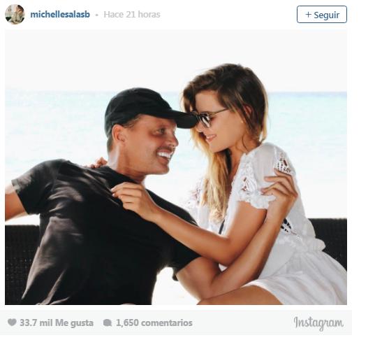 Michelle Salas publica por primera vez foto junto a Luis Miguel
