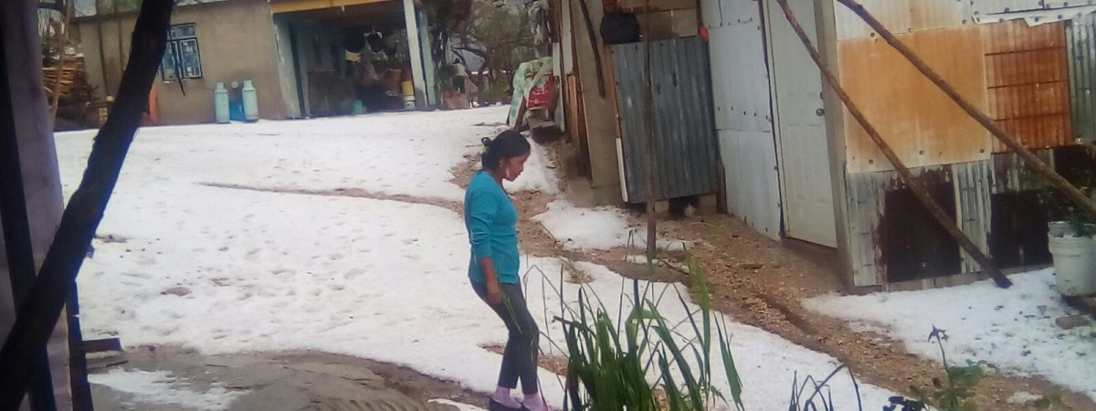 #VIDEO: Mira el video de la Granizada hoy en Nochixtlan, Oaxaca.