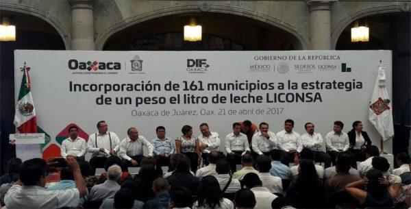 Leche Liconsa será sin costo para oaxaqueños