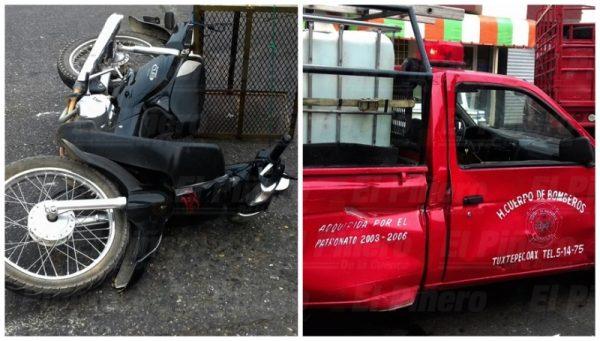 Por choque, Bomberos se quedan sin un vehículo; en riesgo algunos servicios