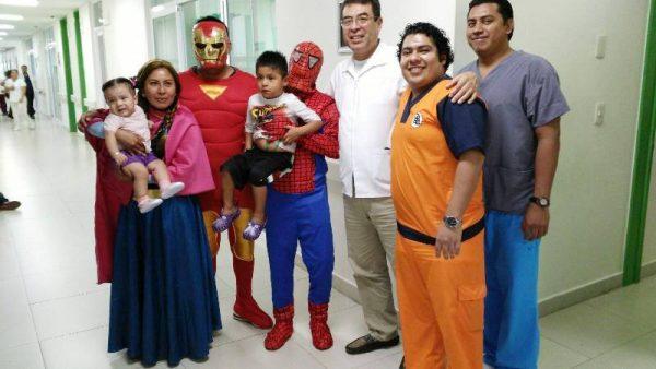 Personal de pediatría del Hospital de Tuxtepec festeja a los menores, por Día del Niño