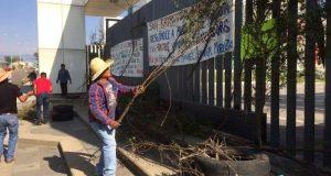 Bloquean acceso y queman llantas frente a Congreso de Oaxaca