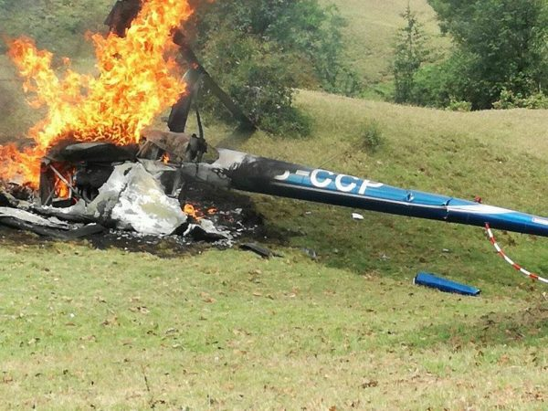 Integrantes del PVEM, pasajeros del helicóptero desplomado en Veracruz