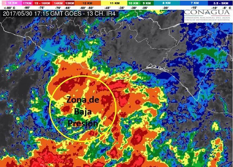 Se formó la Depresión Tropical 2-E en el Océano Pacífico