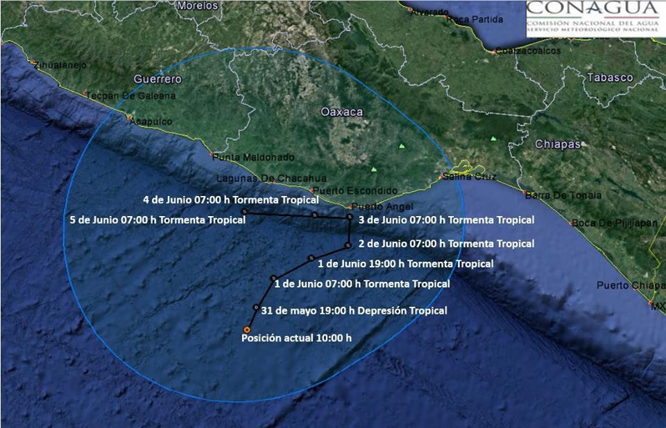 Mantienen vigilancia en Oaxaca ante proximidad de depresión tropical