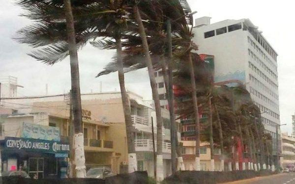 Activan en Veracruz alerta gris por fuertes vientos