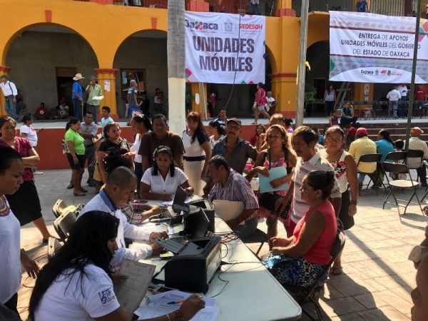 Feria de Servicios de Unidades Móviles de SEDESOH en San Bartolo y Benemérito Juárez