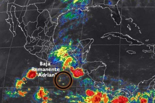 "Se disipa ""Adrián"",  continuarán lluvias fuertes: Cepco"
