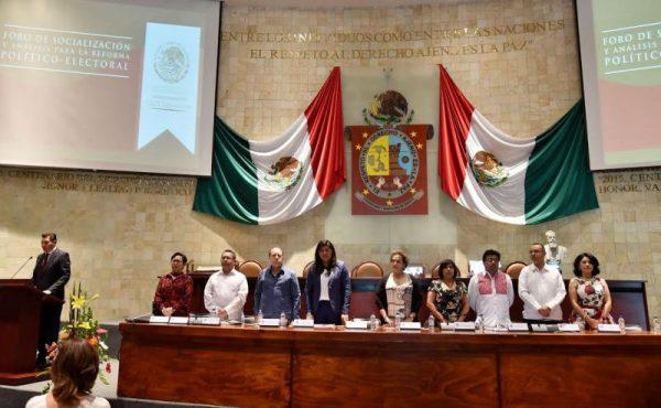 Socializa Congreso de Oaxaca Reforma Político Electoral para su enriquecimiento