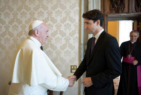 El Papa y Trudeau se reúnen por primera vez
