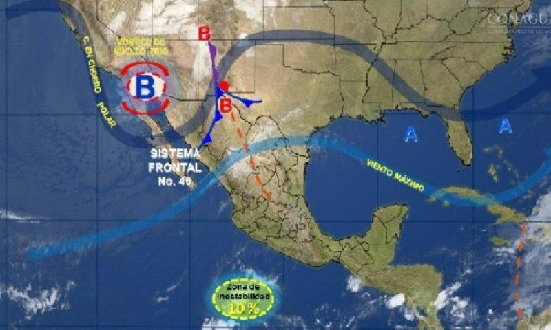 Ambiente frío, vientos fuertes con rachas y posibles torbellinos en norte y noreste del país