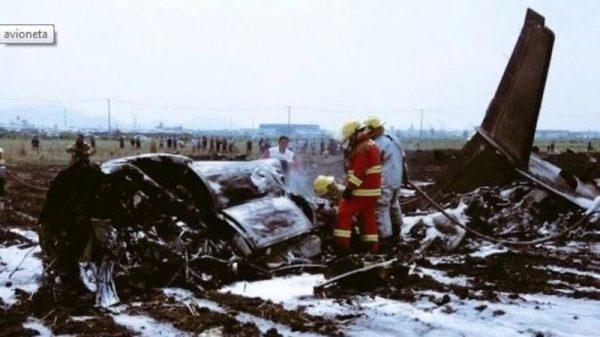 Dos muertos en desplome de avioneta en Toluca