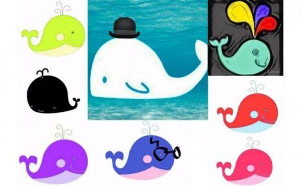 Ballenas de colores navegan en la red