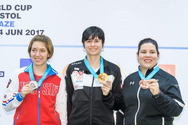 Alejandra Zavala gana bronce en Copa del Mundo de Tiro