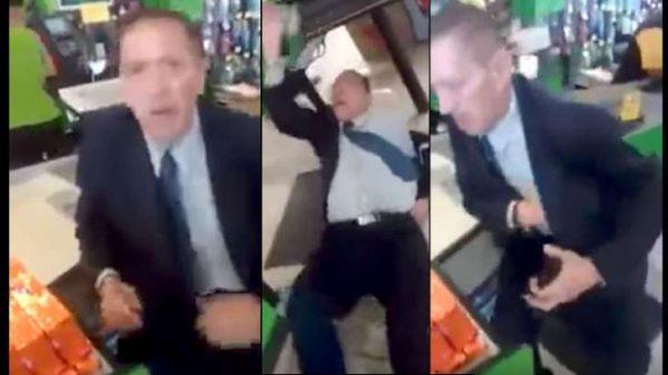 VIDEO: Lo cachan robando, finge convulsionarse y se vuelve #LordAtaques