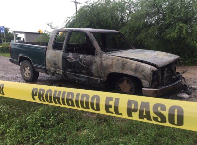 Queman camioneta en Juchitán con paquetería electoral