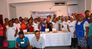 Capacitan a 50 mujeres en la región para mejorar asistencia alimentaria