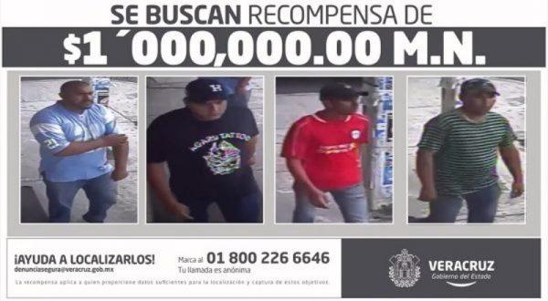 Ofrecen 1 mdp por asesinos de mando policial en Veracruz