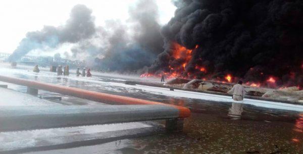 Nueve heridos por incendio en refinería de Salina Cruz