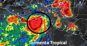 """Depresión Tropical  3-E eleva su categoría a Tormenta Tropical """"Calvin"""""""