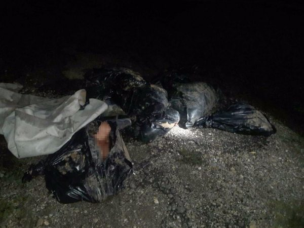 Encuentran bolsas con tres cuerpos mutilados