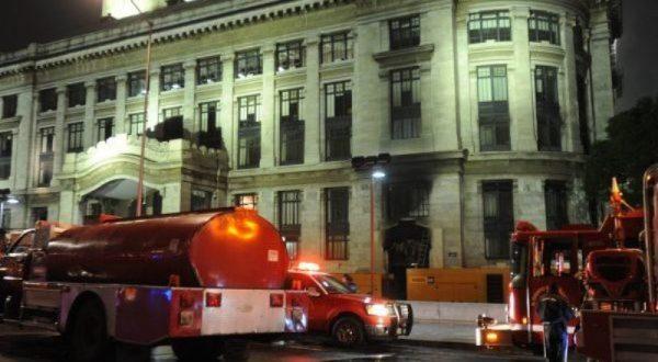 Se registra conato de incendio en Palacio de Bellas Artes