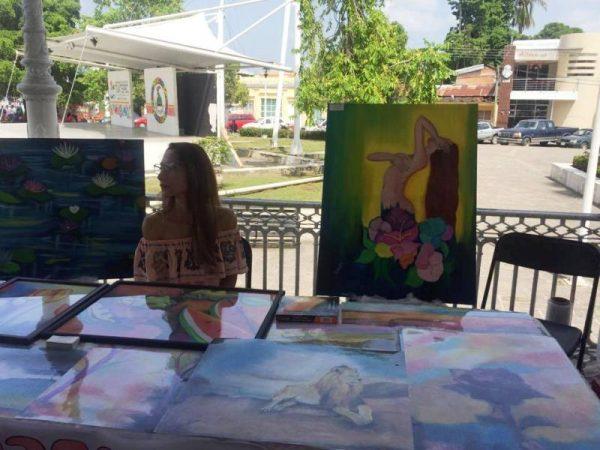 """Éxito total la exposición """"Por Amor al Arte""""; exposición de 12 jóvenes tuxtepecanos"""