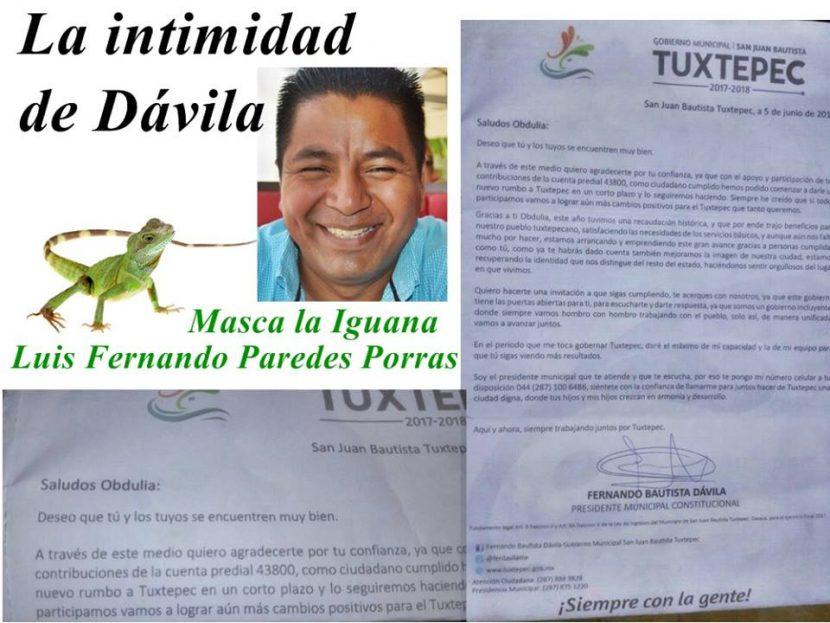 Masca la Iguana/La intimidad de Dávila
