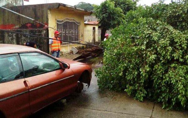 Registra Protección Civil 45 casas dañadas, por fuertes lluvias