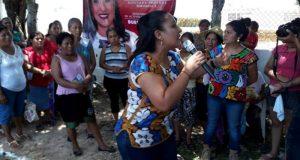 Exhorta Karina Barón a autoridades de Mata de Caña, seguir trabajando en equipo