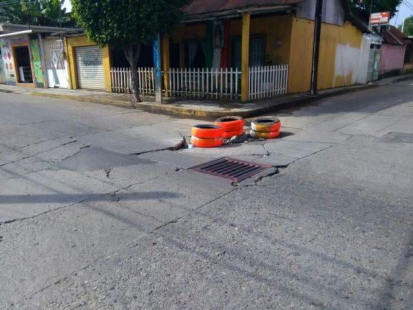 Esquina de Rayón y Carranza a punto de colapsar