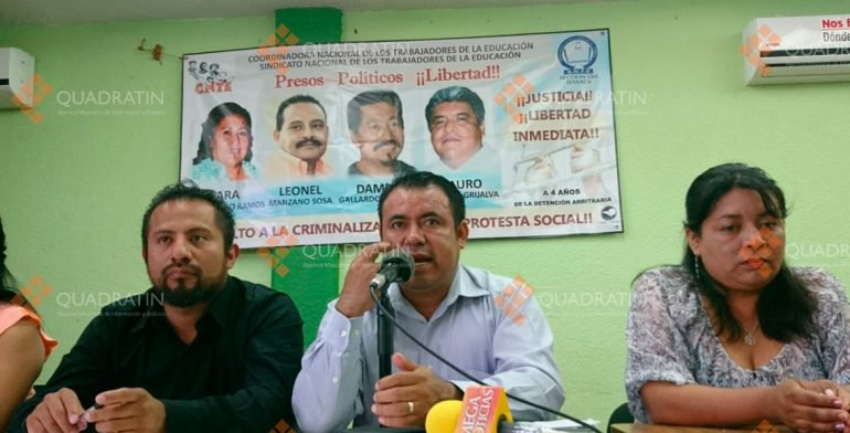 Mantendrá CNTE protestas durante la Guelaguetza en Oaxaca