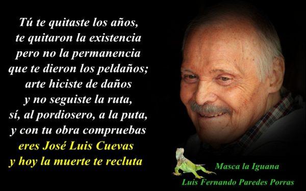 Fallece José Luis Cuevas, genio autodidacta.