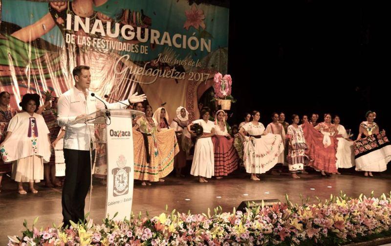 Inaugura AMH Festividades de Julio, Mes de la Guelaguetza