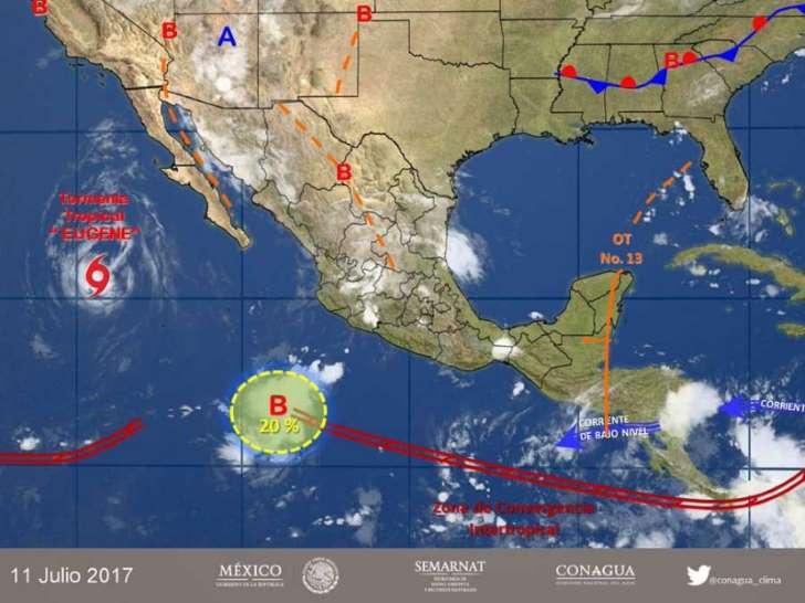 'Eugene' pierde fuerza y se convierte en tormenta tropical