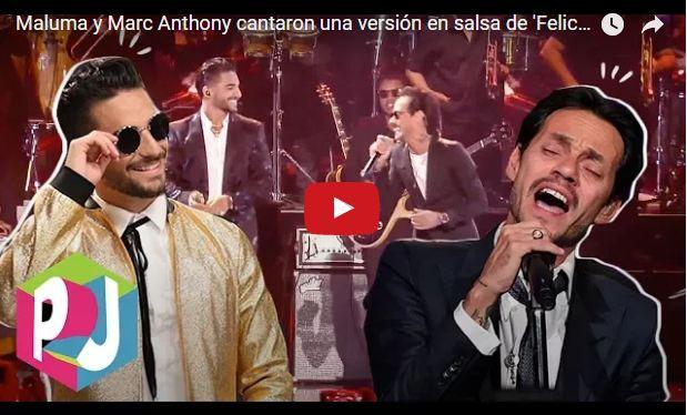 Maluma y Marc Anthony cantan 'Felices los 4' versión salsa