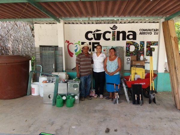 María Luisa Vallejo logra y entrega beneficios a todas las cocinas comunitarias de Tuxtepec