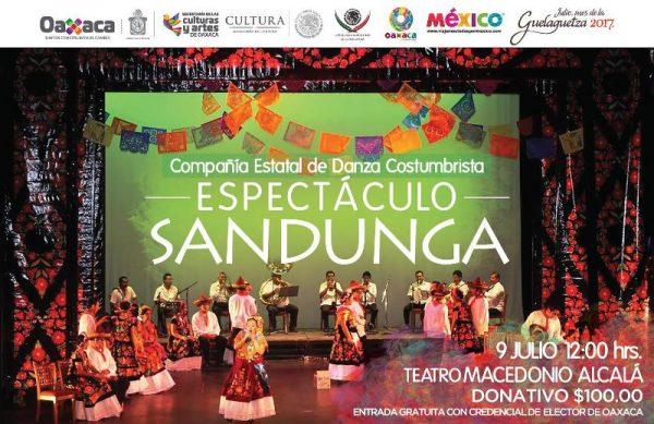 """Espectáculo """"Guelaguetza"""" y """"Sanduga"""" regresan  al Teatro """"Macedonio Alcalá"""""""