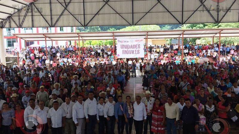 Sedesol pone en marcha Unidades Móviles en Usila