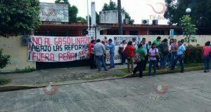 Sección 22 toma instalaciones del IEEPO en Tuxtepec