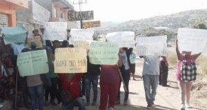 Anuncian bloqueo colonias de la Agencia Vicente Guerrero