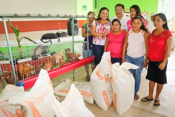 Karina Barón cumple con familias en siete municipios de  la Cuenca del Papaloapan