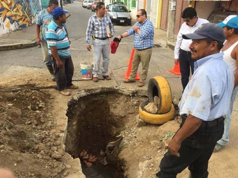 En 30 días, nueve socavones reparados en la zona urbana de Tuxtepec