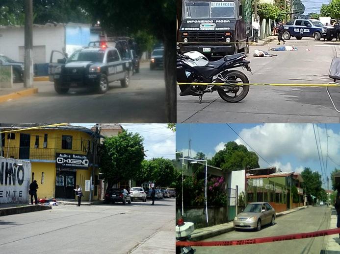 -ACTUALIZADA- Seis personas muertas, saldo de jornada violenta en Tuxtepec