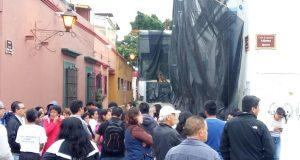 Con bloqueo en Eduardo Vasconcelos padres y maestros de la Técnica 1 exigen reconstrucción de su inmueble