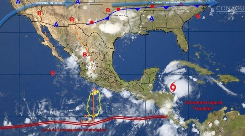 Franklin afectará a la Península de Yucatán con tormentas