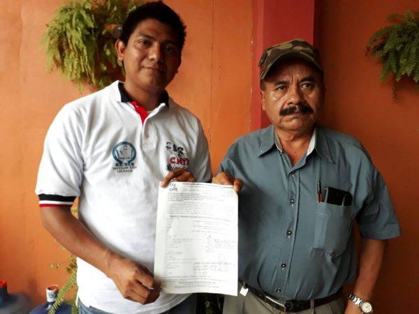 Maestros de la Sección 22 en Valle Nacional, crean centro de acopio