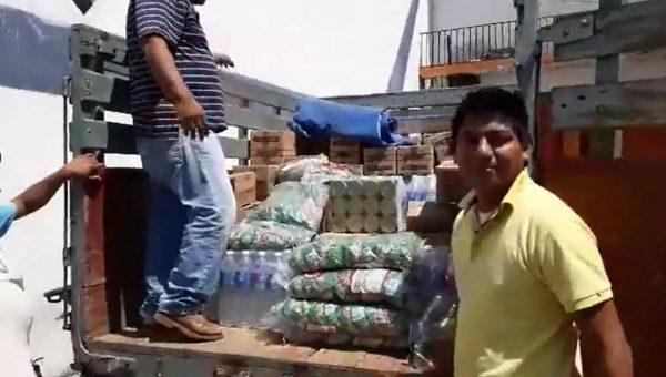 Con 40 mil pesos en víveres, Rancho Grande se solidariza con el Istmo