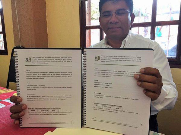 Resultados de Auditoría son favorables para el Presidente de Ojitlán