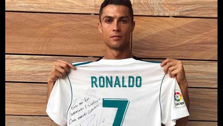 Cristiano Ronaldo envió mensaje a familia de menor fallecido por sismo